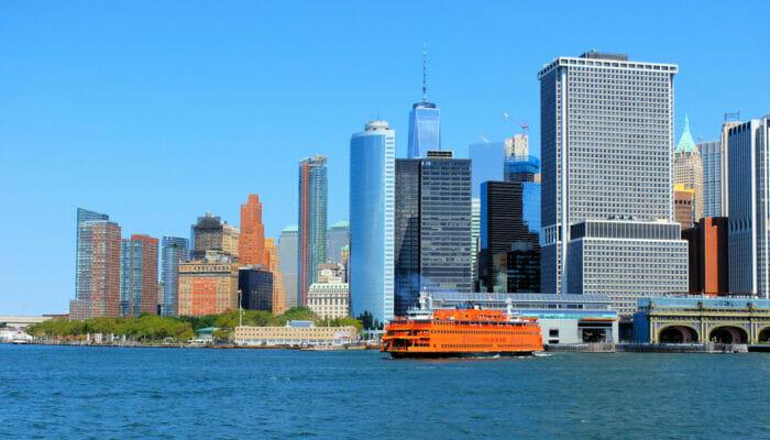 Staten Island i New York - Skyline
