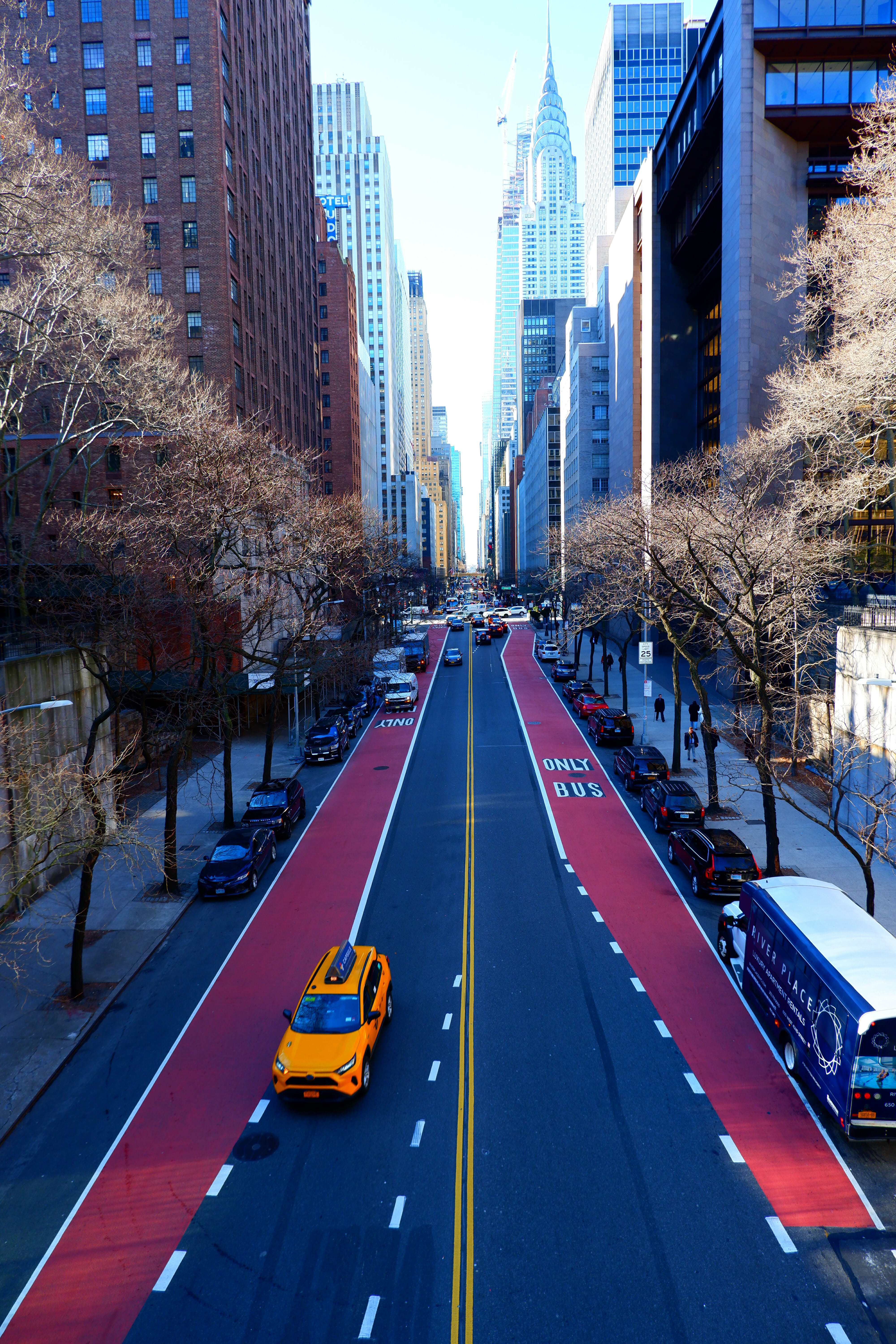 View of 42nd Street from Tudor City High Quality Wallpaper