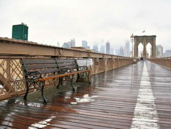 Regn i New York - Brooklyn Bridge