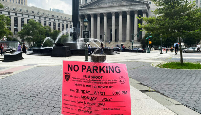 Filmlokationer i New York - Parkering forbudt