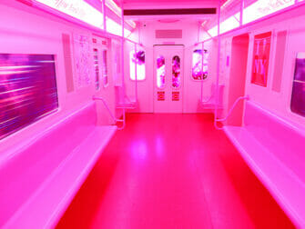 Museum of Ice Cream i New York - En lyserød Subway
