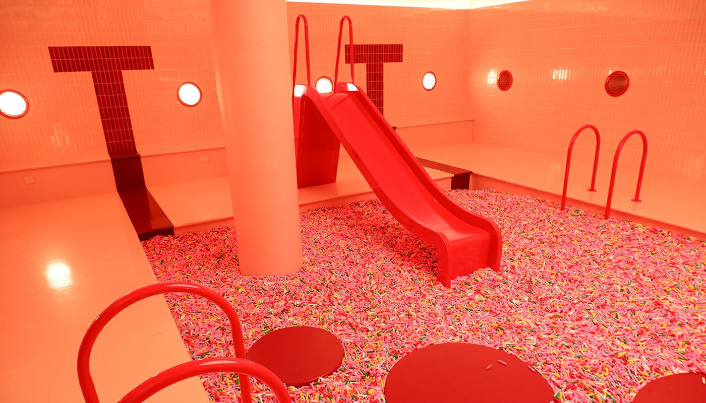 Museum of Ice Cream i New York - Sprinkle Slide