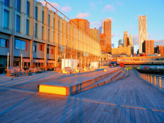 South Street Seaport i New York - Solopgang