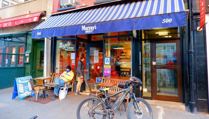 Bedste kaffe og bagels i New York - Murrays Bagels