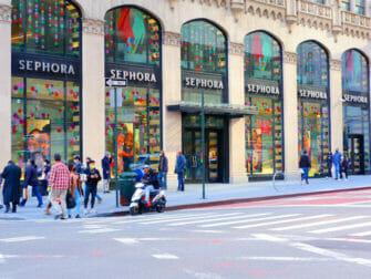 Shopping på Upper East Side i New York Fifth Avenue