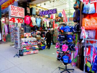 New York vaccinerer turister - Butik på Times Square